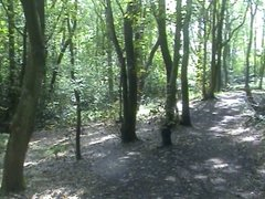 Risky public woodland wank and cum