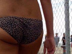 Candid Beach Bikini Butt Ass West Michigan Booty Cheetah