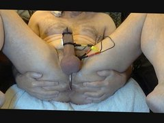 Cock Milking With E-stim