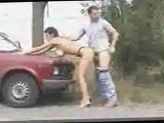 Cuckold fills his hot wife out dogging