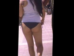 hot big booty thick latina jiggly ass bikini spy 47