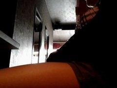 Spreading my legs in a bar