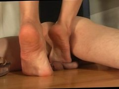 Balls under bare feet