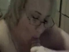 BBW gagging on cock