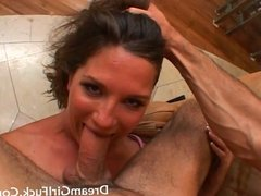Angelina Bonet - Hot Brunette Sucked Cock And Nailed In The