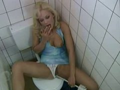 German mature woman fucked in public toilet