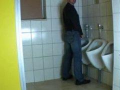German mature woman fucked in public toilet