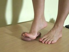 CBT barefeet trample with cum 2