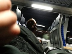 a little fun with cum (train flash action)