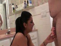 Christina and Crystal Bathroom Slave Humiliation