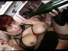 I am Pierced granny with nipple and pussy piercings fucked