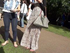 Leggings im Park