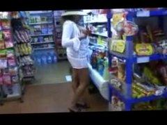 She like to go shopping NAKED!!!!