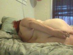 Vibe in ass masturbation