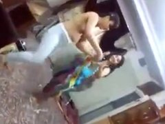 wild girls dancing topless at home party
