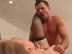 Hard assfuck and deepthroat with german MILF