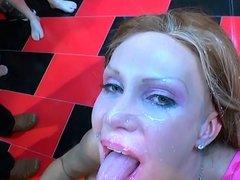 german bukkake beauty gets facials