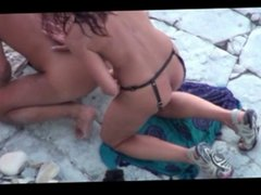 amateur strapon on the beach 2