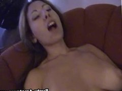 Busty Lili masturbates her pussy for the first time on cam