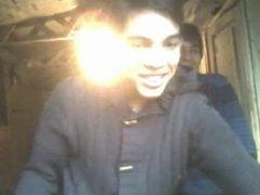 straight guys feet on webcam - various