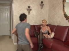 punishment from mom (femdom,shoe sniffing ,feet licking)