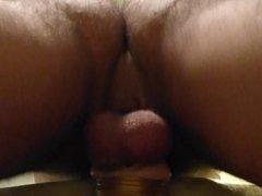 Fucking Fleshlight mastabator hard cock & condom