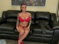 Cute Tattooed Girl With Big Tits Performs Great Live Show