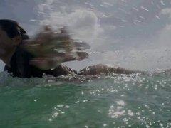 Female Aussie Surfer Anastasia Ashley Has Petite Booty
