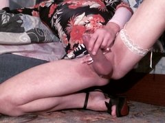Stroking Clit in the Evening Dress