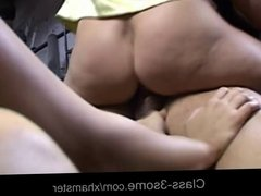 Slutty brunettes pays the car repair with threesome