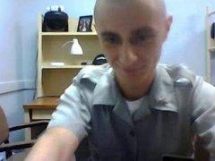 Straight guys feet on webcam #148