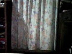 filipino lady danching  on webcam