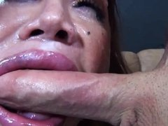 Facefucked MILF gets facialized DTD