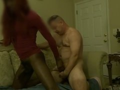Hung White Pastor Pounds Hung Black Tranny