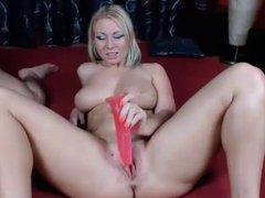 Blonde Woman Sexually Unsatisfied Masturbates