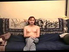Petite Amateur Tranny Takes Big Cock