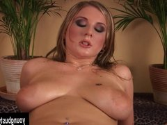 Young Denice gets big tits fucked and jizzed