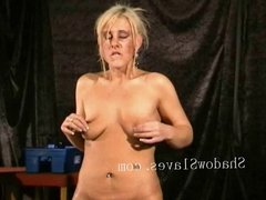 Bizarre rough sextoy domination of blonde Crystel Lei in med
