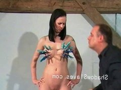 Cruel tit tortures and extreme bdsm of Emily Sharpe in hell