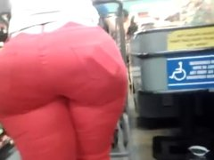 Big butt Mature-Red Jeans
