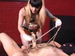 Mistress fucks slave with strapon 8
