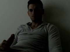 cute cali guy jerking off, cums and then something else...