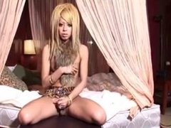 Japanese CD plays with her uncut wiener 02