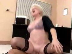 Hot Granny Cougar Teacher Banging In Class