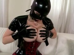 Big tits in Latex