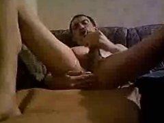 gewichst mit Sperma im Arsch