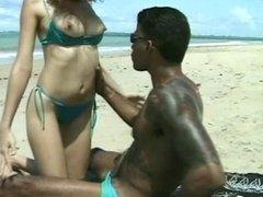 Sexual Latina Teen Girl Ass Penetation on the Beach