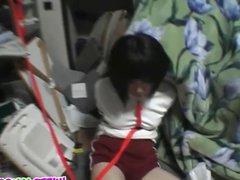 Busty teen enslaved in bondage