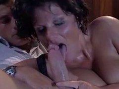Mature brunette anal fucked