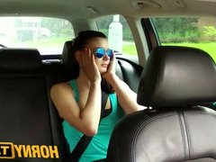 HornyTaxi Sexy teen with big natural tits learns the hard way